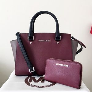 Michael Kors Color Block Selma Medium & Wallet